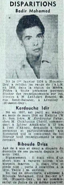Alger républicain, 8 septembre 1962.